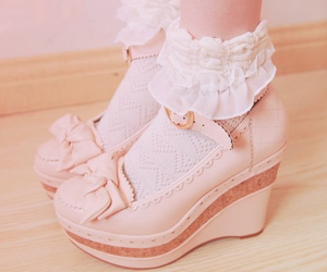 pink, lolita shoes, and cute image