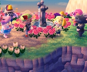 animal crossing, flowers, and game image