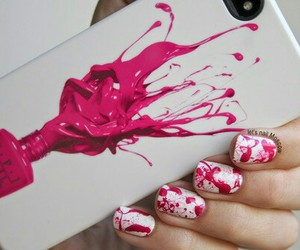 pink, white, and nail art image