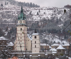 church, winter, and vilage image
