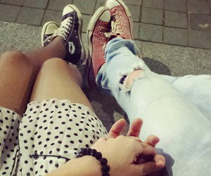 converse, skirt, and love image