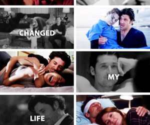 couple, meredith grey, and patrick dempsey image