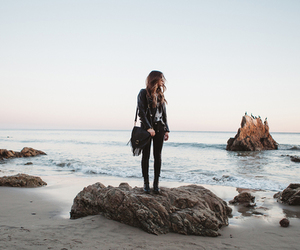 beach, girl, and outfit image