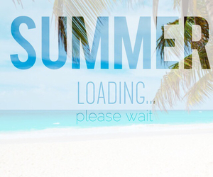 summer, beach, and loading image