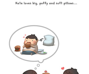 love and pillow image