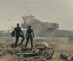 black widow, captain america, and age of ultron image