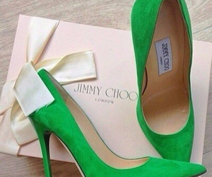 shoes, Jimmy Choo, and green image
