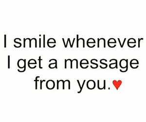 love, smile, and message image