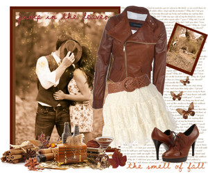 autumn, brown, and couple image