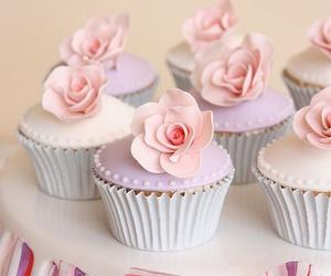 cupcake, pastel, and pink image
