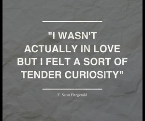 quote, f. scott fitzgerald, and love image
