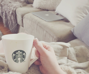 best friend, blankets, and coffee image