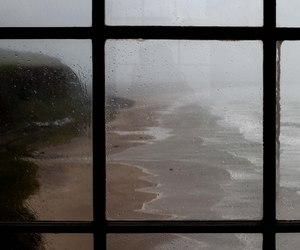rain, sea, and window image