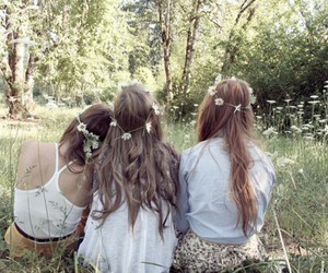 bohemian, flowers, and hippie image