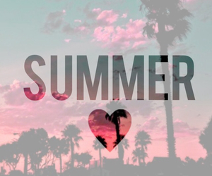 summer, beach, and pink image
