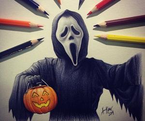 art, drawing, and Halloween image