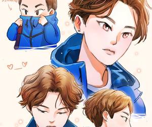 exo, xiumin, and fanart image