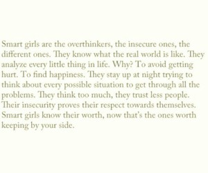 girls, insecure, and smart image
