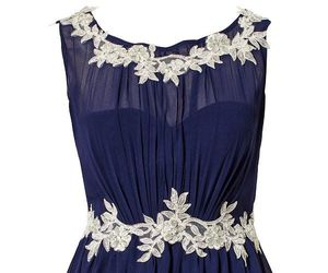 blue dress, chic, and classy image