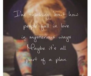 ed sheeran, thinking out loud, and Lyrics image