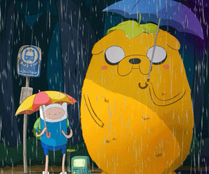 adventure time, JAKe, and finn image