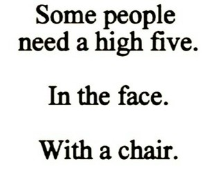 high five, chair, and face image
