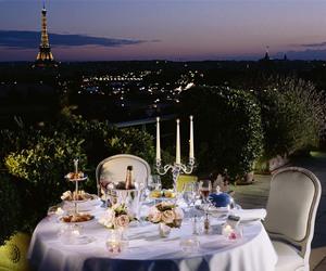 paris, dinner, and night image