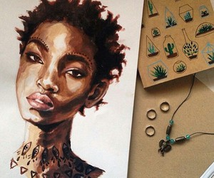 African, necklace, and brown image