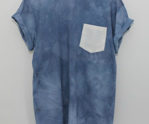 t-shirt, blue, and hipster image