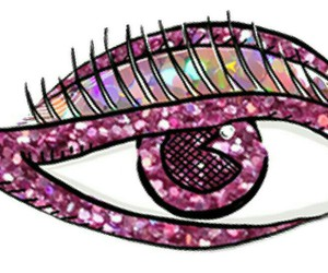 eye, glitter, and overlay image