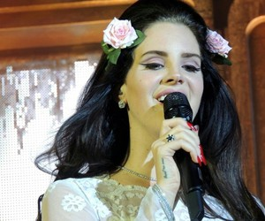 flowers and lana del rey image