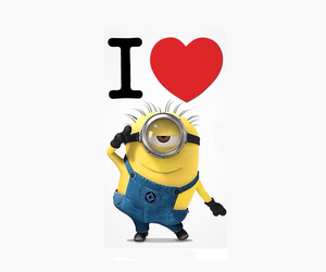 minions and love image
