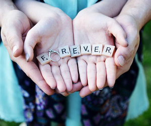 engagement, forever, and wedding image