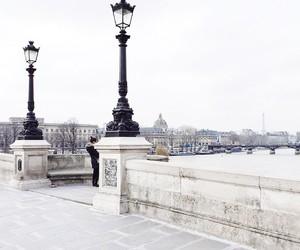 city, paris, and white image