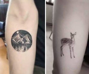tattoo, mountain, and arm image