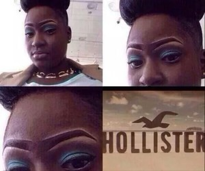 hollister, funny, and eyebrows image