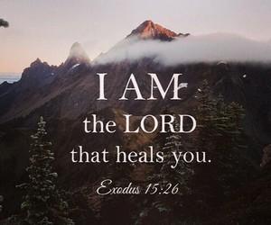 god, heals, and jesus image