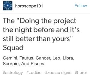 astrology, cancer, and homework image