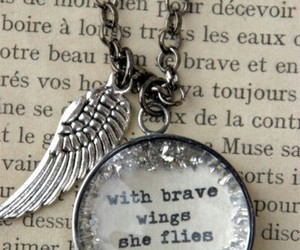 wings, quotes, and brave image