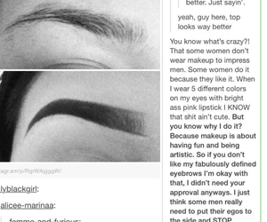eyebrows, true, and feminism image