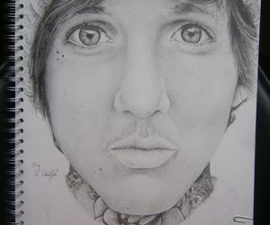 art, black and white, and bmth image