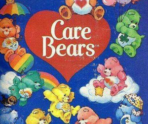 care bears and rainbow image