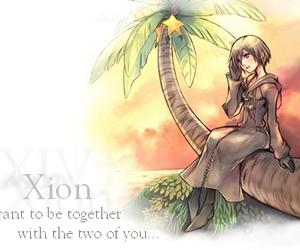 axel, riku, and keyblade image