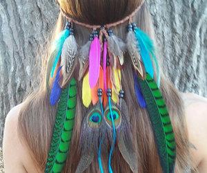 headband, boho, and fashion image