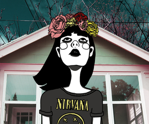 nirvana, grunge, and drawing image