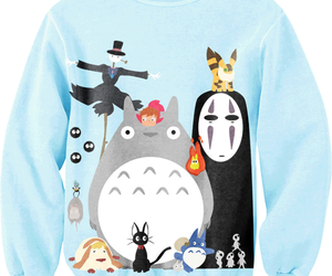 anime, totoro, and sweater image