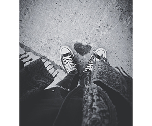 black and white, cold, and converse image