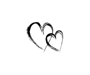 black, heart, and wallpaper image