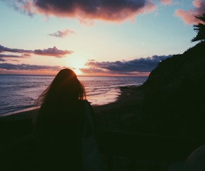 sunset, girl, and summer image