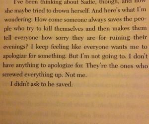 book, depressive, and quote image